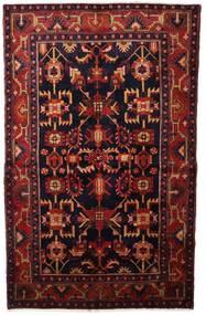 하마단 러그 132X213 정품 오리엔탈 수제 다크 레드 (울, 페르시아/이란)