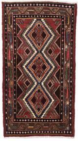 하마단 러그 80X140 정품 오리엔탈 수제 다크 레드/다크 브라운 (울, 페르시아/이란)