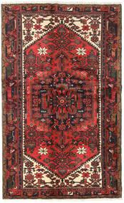 하마단 러그 122X197 정품 오리엔탈 수제 다크 브라운/다크 레드 (울, 페르시아/이란)