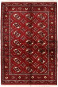 Turkaman 러그 136X200 정품 오리엔탈 수제 다크 레드/크림슨 레드 (울, 페르시아/이란)
