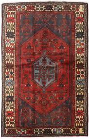 하마단 러그 127X197 정품 오리엔탈 수제 다크 레드/다크 브라운 (울, 페르시아/이란)