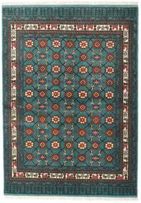 Turkaman 러그 136X187 정품 오리엔탈 수제 다크 터코이즈 /다크 그레이 (울, 페르시아/이란)