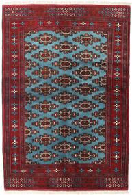 Turkaman 러그 133X190 정품 오리엔탈 수제 다크 레드/블루 (울, 페르시아/이란)