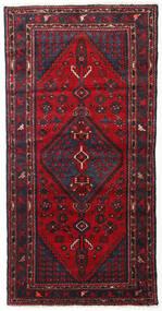 하마단 러그 103X200 정품 오리엔탈 수제 다크 레드/다크 브라운 (울, 페르시아/이란)