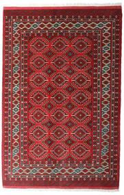 Turkaman 러그 137X206 정품 오리엔탈 수제 다크 레드/다크 그레이 (울, 페르시아/이란)