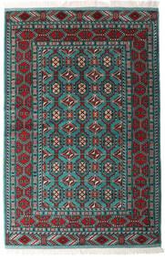 Turkaman 러그 140X208 정품 오리엔탈 수제 블랙/다크 그린 (울, 페르시아/이란)