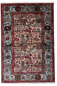 하마단 러그 100X150 정품 오리엔탈 수제 블랙/다크 레드 (울, 페르시아/이란)
