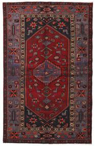 하마단 러그 136X214 정품 오리엔탈 수제 다크 레드/블랙 (울, 페르시아/이란)