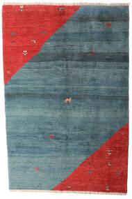 가베 Rustic 러그 203X305 정품 모던 수제 블루/러스트 레드 (울, 페르시아/이란)