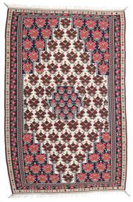 킬림 세너 러그 150X220 정품 오리엔탈 수제 다크 퍼플/라이트 그레이 (울, 페르시아/이란)