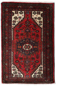 하마단 러그 80X125 정품  오리엔탈 수제 다크 브라운/다크 레드 (울, 페르시아/이란)