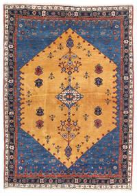 가베 카슈쿨리 러그 124X174 정품 모던 수제 라이트 브라운/다크 블루 (울, 페르시아/이란)