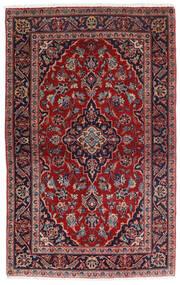 케샨 러그 98X158 정품 오리엔탈 수제 다크 레드/다크 블루 (울, 페르시아/이란)