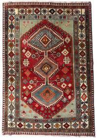 까쉬까이 러그 136X197 정품 오리엔탈 수제 다크 레드/다크 그레이 (울, 페르시아/이란)