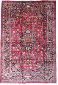 마슈하드 러그 198X290 정품  오리엔탈 수제 다크 퍼플/라이트 핑크 (울, 페르시아/이란)