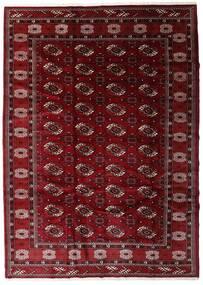 Turkaman 러그 204X285 정품 오리엔탈 수제 다크 레드/다크 브라운 (울, 페르시아/이란)