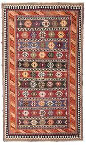 킬림 빈티지 러그 162X270 정품 오리엔탈 수제 다크 레드/다크 브라운 (울, 페르시아/이란)