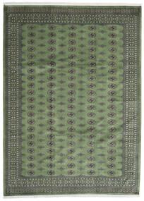 파키스탄 보카라 2Ply 러그 250X344 정품  오리엔탈 수제 다크 그레이/올리브 그린 대형 (울, 파키스탄)