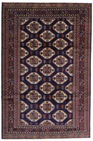 Turkaman 러그 247X378 정품 오리엔탈 수제 다크 퍼플/다크 브라운 (울, 페르시아/이란)