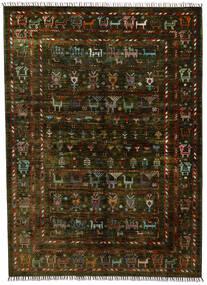 모던 아프가니스탄 러그 154X212 정품  모던 수제 다크 브라운 (울, 아프가니스탄)