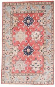 카작 러그 121X190 정품 오리엔탈 수제 라이트 그레이/라이트 핑크 (울, 아프가니스탄)