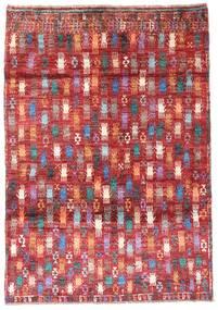 Moroccan 베르베르 - Afghanistan 러그 115X169 정품  모던 수제 다크 레드/러스트 레드 (울, 아프가니스탄)