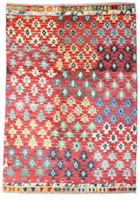 Moroccan 베르베르 - Afghanistan 러그 121X171 정품  모던 수제 러스트 레드/라이트 핑크 (울, 아프가니스탄)