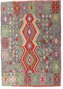킬림 모던 러그 102X143 정품  모던 수제 라이트 그레이/라이트 브라운 (울, 아프가니스탄)