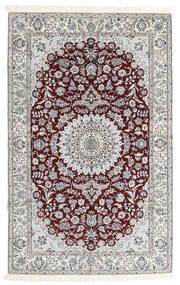 나인 9La 러그 160X251 정품 오리엔탈 수제 다크 브라운/라이트 그레이 (울/실크, 페르시아/이란)