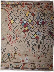 킬림 모던 러그 297X391 정품  모던 수제 라이트 그레이/라이트 브라운 대형 (울, 아프가니스탄)