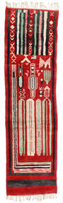 베르베르 Moroccan - Mid Atlas 러그 82X304 정품  모던 수제 복도용 러너  러스트 레드/블랙 (울, 모로코)