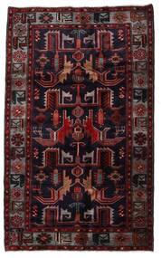 하마단 러그 131X213 정품 오리엔탈 수제 다크 레드 (울, 페르시아/이란)