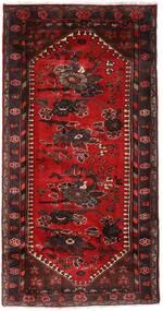하마단 러그 102X193 정품 오리엔탈 수제 다크 레드/다크 브라운 (울, 페르시아/이란)