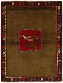 까쉬까이 러그 130X170 정품  오리엔탈 수제 브라운/다크 브라운 (울, 페르시아/이란)