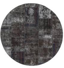 패치워크 - Persien/Iran 러그 Ø 200 정품  모던 수제 원형 블랙/브라운 (울, 페르시아/이란)