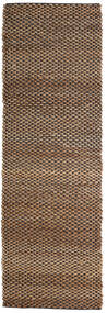야외 카펫 Siri Jute - 천연/검정색 러그 80X250 정품  모던 수제 복도용 러너  브라운/다크 브라운 ( 인도)