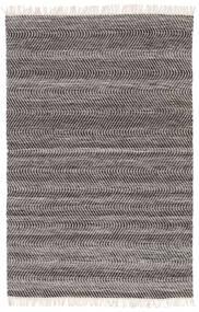 Chinara - 검정색/흰색 러그 200X300 정품  모던 수제 라이트 그레이/다크 그레이 (울, 인도)