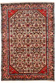 하마단 러그 131X194 정품 오리엔탈 수제 다크 브라운/베이지 (울, 페르시아/이란)