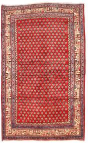 Arak 러그 125X205 정품 오리엔탈 수제 다크 레드/크림슨 레드 (울, 페르시아/이란)