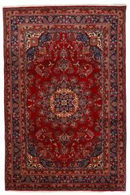 마슈하드 러그 192X294 정품  오리엔탈 수제 다크 레드/크림슨 레드 (울, 페르시아/이란)