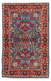 케르만 러그 92X149 정품  오리엔탈 수제 다크 레드/블루 (울, 페르시아/이란)