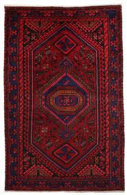 하마단 러그 151X231 정품 오리엔탈 수제 다크 레드/크림슨 레드 (울, 페르시아/이란)