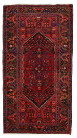 Zanjan 러그 128X238 정품 오리엔탈 수제 다크 레드/다크 브라운 (울, 페르시아/이란)