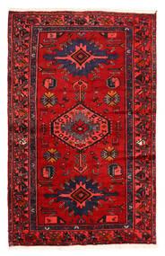 하마단 러그 128X204 정품 오리엔탈 수제 다크 브라운/러스트 레드 (울, 페르시아/이란)
