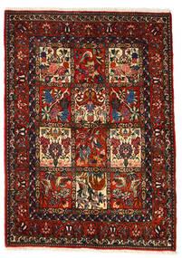 바흐티아리 Collectible 러그 106X150 정품 오리엔탈 수제 다크 브라운/다크 레드 (울, 페르시아/이란)