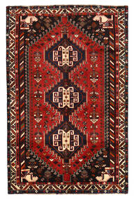 Shiraz 러그 160X247 정품 오리엔탈 수제 블랙/다크 레드/러스트 레드 (울, 페르시아/이란)