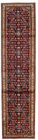 하마단 러그 76X300 정품 오리엔탈 수제 복도용 러너 다크 브라운/다크 레드 (울, 페르시아/이란)