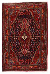 Nahavand 러그 118X180 정품 오리엔탈 수제 다크 레드/크림슨 레드 (울, 페르시아/이란)