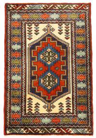 Turkaman 러그 61X93 정품 오리엔탈 수제 블랙/다크 브라운 (울, 페르시아/이란)