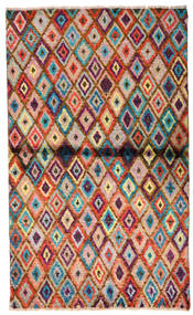 Moroccan 베르베르 - Afghanistan 러그 85X142 정품  모던 수제 다크 브라운/러스트 레드 (울, 아프가니스탄)